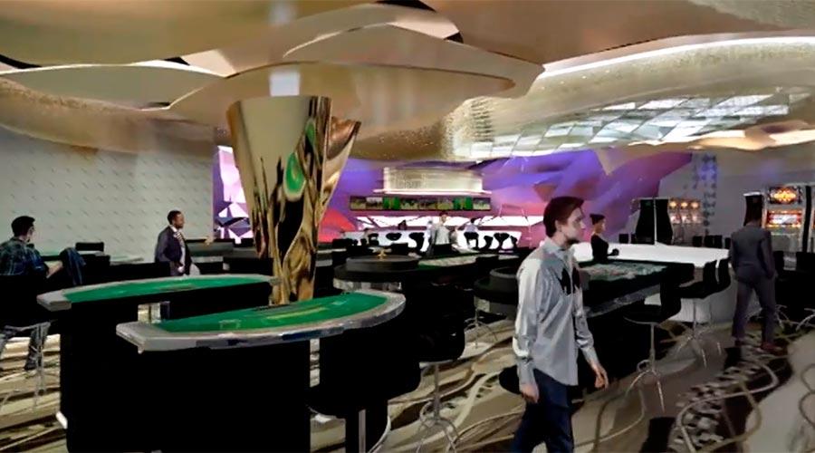 Interior d'un casino