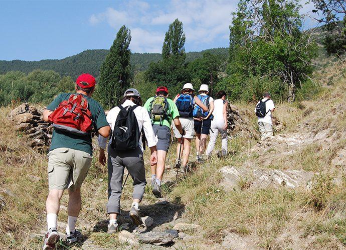 Un grup d'excursionistes