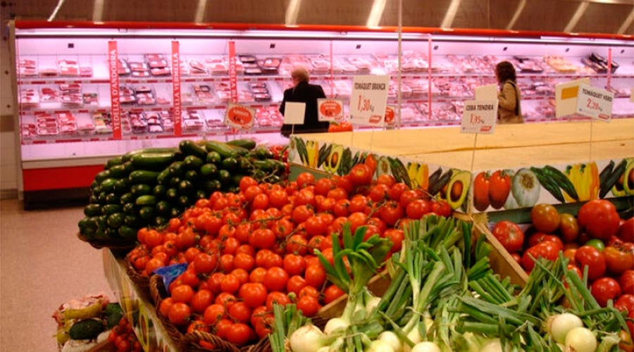 supermercat d'aliments