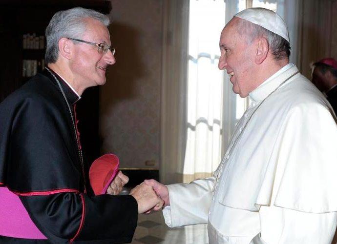 VIves durant una visita al Papa Francesc