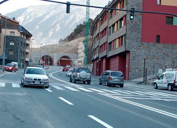 CG2 a l'alçada del túnel de Ràdio Andorra