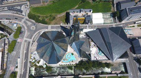 Vista aèria de les instal·lacions de Caldea