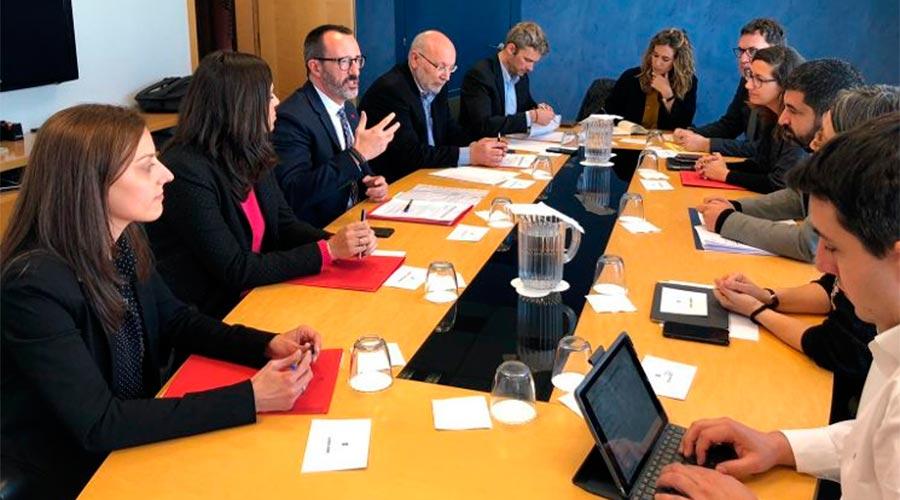 Una delegació andorrana encapçalada per Victor Filloy reunida amb representants de la Generalitat de Catalunya