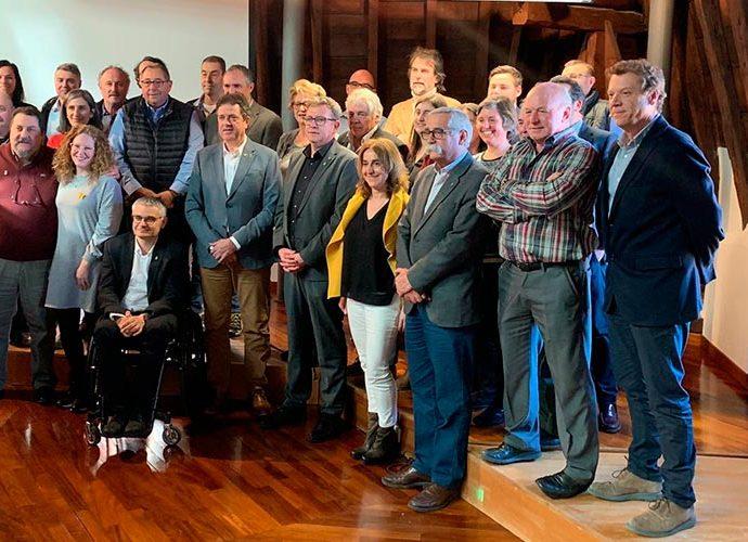 Imatge de grup d'alcaldes de l'Alt Urgell i la Cerdanya