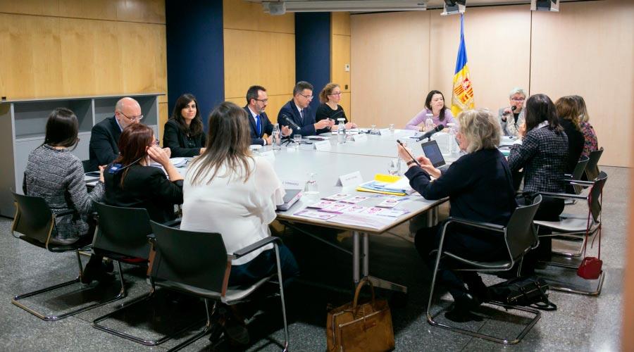 Reunió de personal de Govern amb el Grup d'Experts sobre violència envers les dones