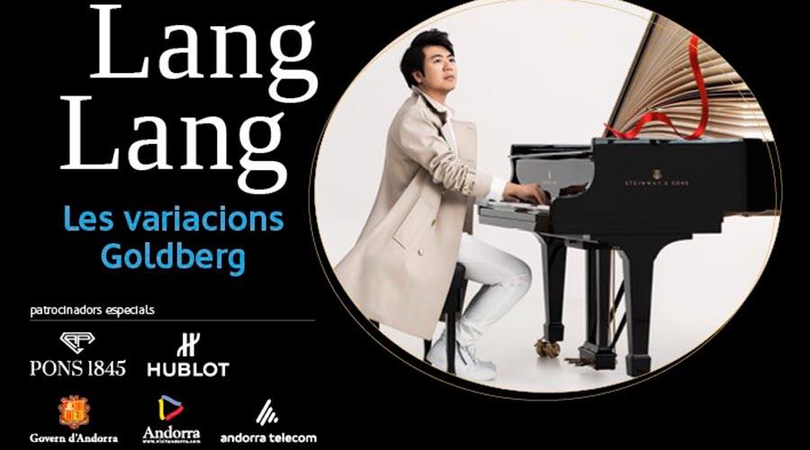 Part del cartell de promoció del concert de Lang Lang