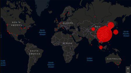 mapa de l'afectació del coronavirus la darrerasetmana
