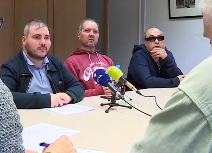 Marc Latorre, David Latorre i Jordi Casellas presenten l'associació de discapacitats visuals i auditius