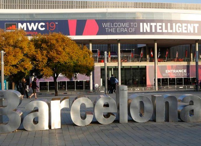 façana del centre de congressos de Barcelona on es va celebrar el Mobile Word Congress