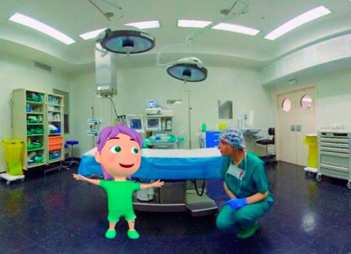 nix, el personatges que anima els nens abans d'una operació