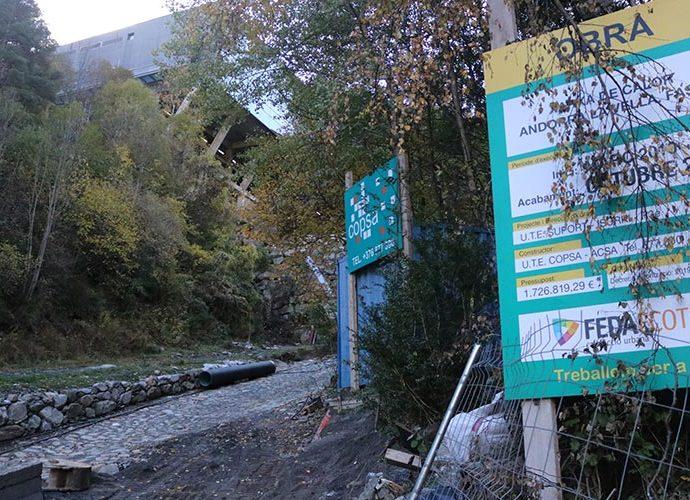 Les obres per la xarxa de calor prop del Centre de Tractament de Residus