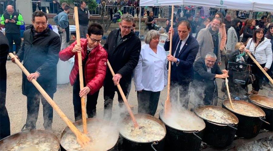 Ruscalleda i representants de la diputació de Lleida al Ranxo de Ponts