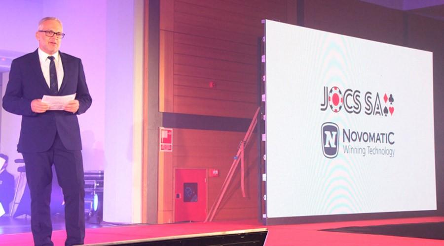 Ventura Espot a la presentació del casino de JOCS SA