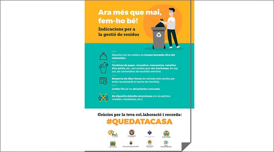 cartell informatiu sobre recollida escombraries