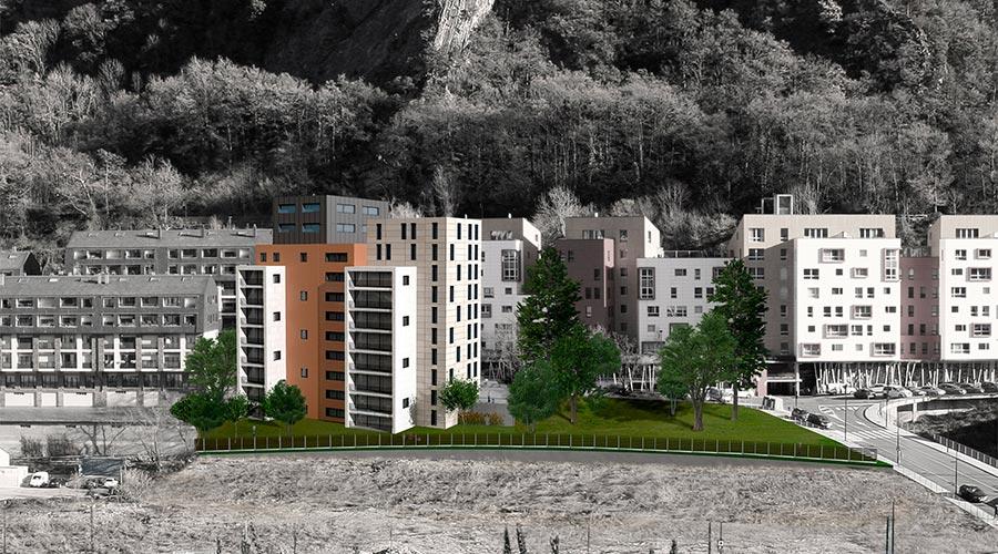 Render dels habitatges socials que el Govern construirà a Terra Vella.