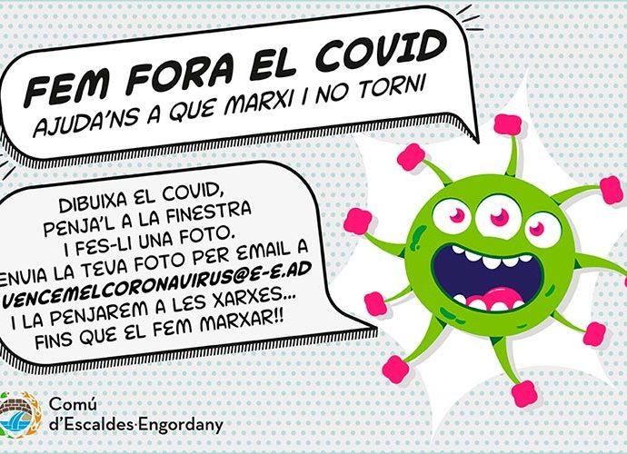 El cartell de la iniciativa del Comú d'Escaldes-Engordany per fer fora el coronavirus