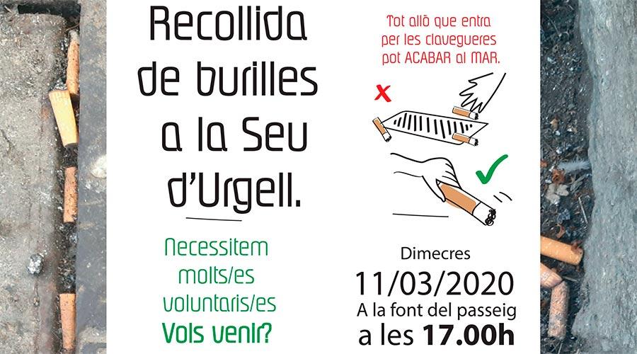 Part del cartell que convoca a la segona recollida de burilles pels carrers de la Seu d'Urgell