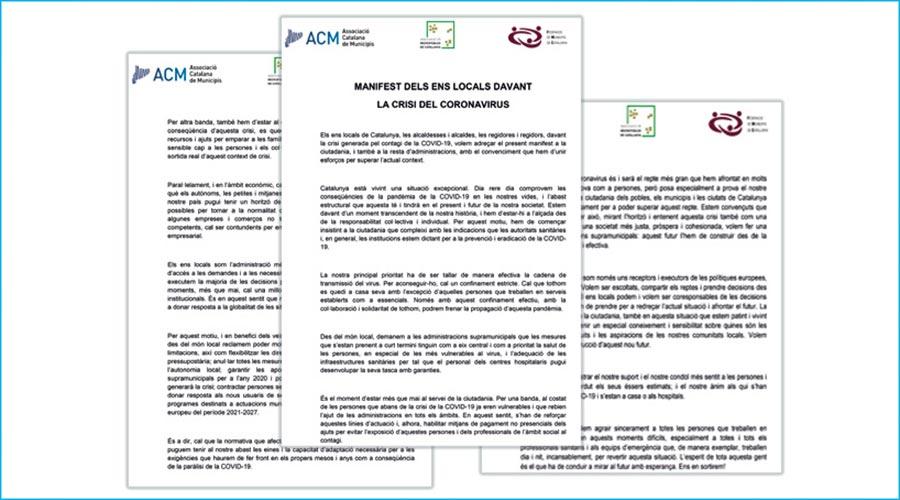 manifest unitari dels municipis catalans