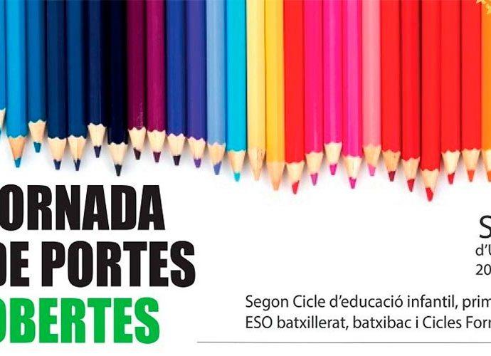 Cartell que anuncia les jornades de portes obertes dels centres educatius de la Seu d'Urgell