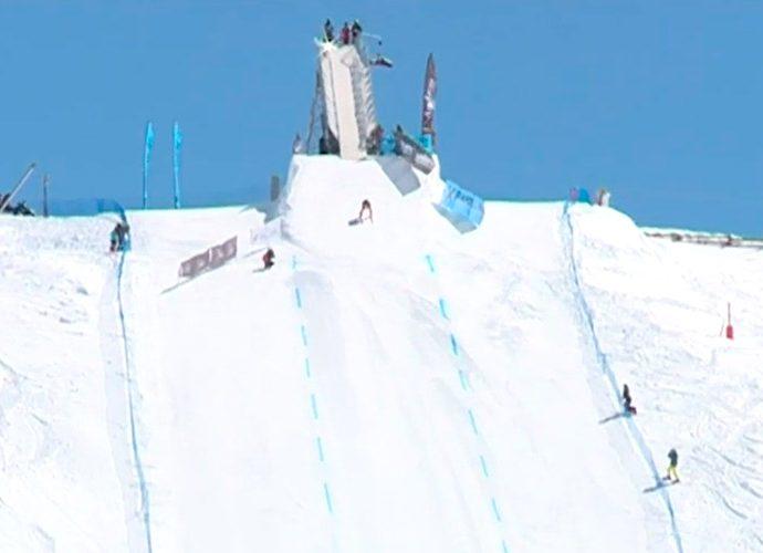 Esquiador en el quilòmetre llançat