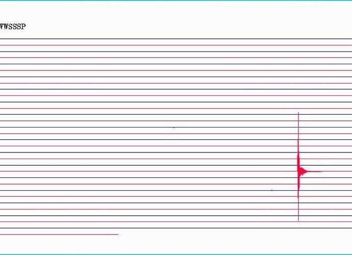 Sismografia d'un terratrèmol de magnitud 2.4