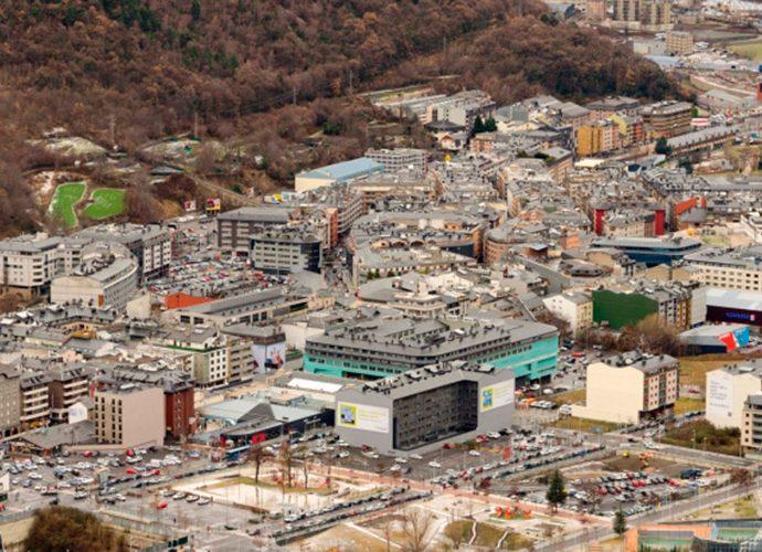 Panoràmica d'Escaldes i Andorra la Vella