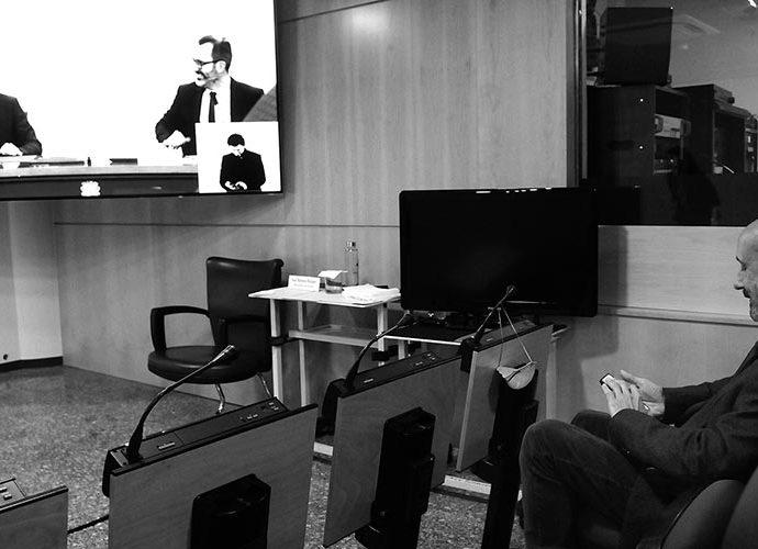 JOver i Filloy a la pantalla i Martínez Benazet a la sala de premsa