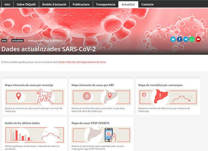 Mapes interactiu del covid a Catalunya