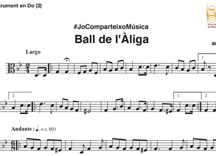 Fragment partitura del Ball de l'Àliga