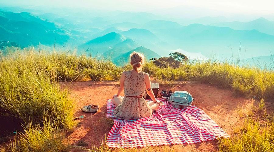 una jove de pícnic