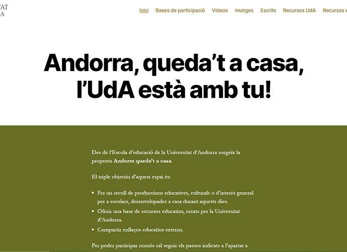 Web de l'espai quedatacasa de l'UDA