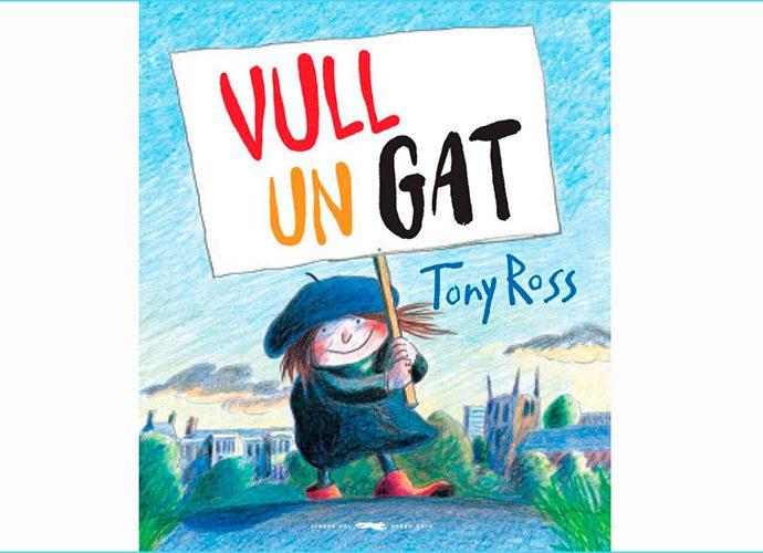 """portada del llibre de Tony ros """"Vull un gat"""""""