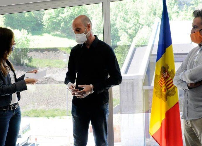 Sílvia Riva i Justo Ruiz visiten el Centre de Tecnificació Esportiva d'Ordino