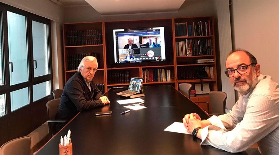 Miquel Armengol - President de la Cambra i Jordi Daban.  Vicepresident de Turisme de la Cambra