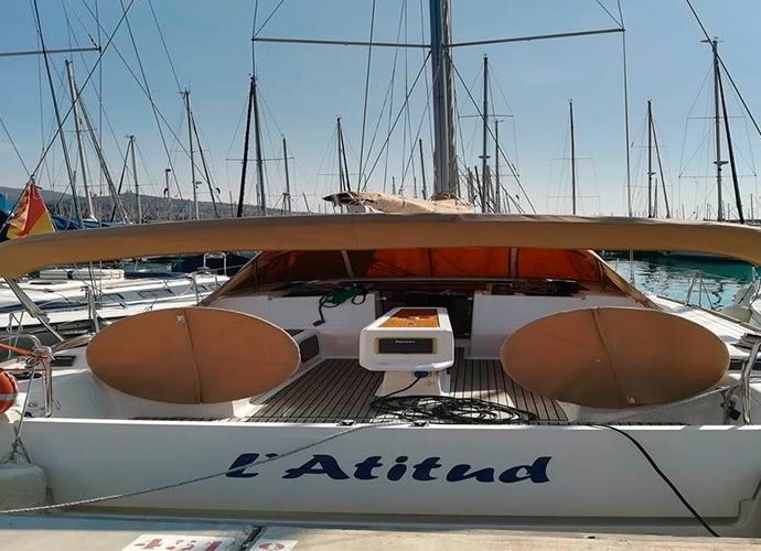 L'Atitud, el veler del Club Nàutic d'Andorra