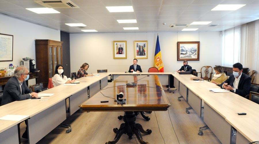 Reunió del cap de Govern i els cònsols majors sobre la COVID19