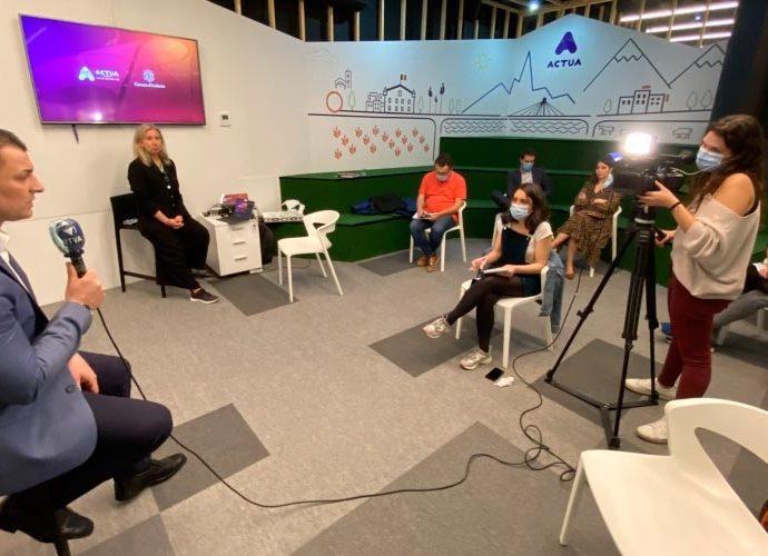 Jordi Gallardo en roda de premsa a Actua