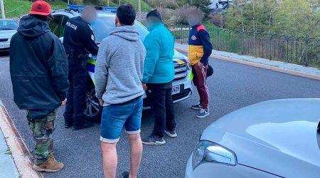 identificació infractors per part de la Policia