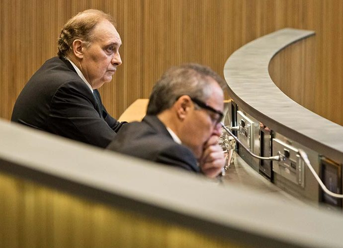 Josep Pintat i Joan Carles Camp, de Terceravia, al Consell General