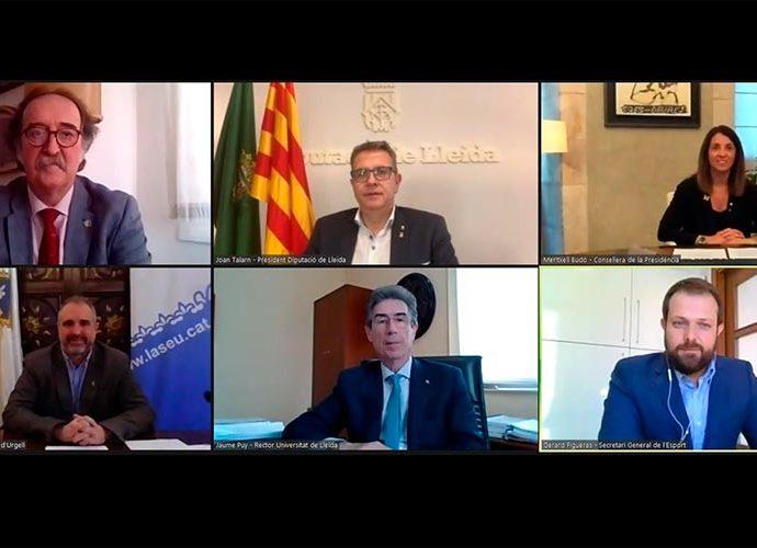 Acte de signatura del conveni per l'INEFC-Pirineus telemàtic