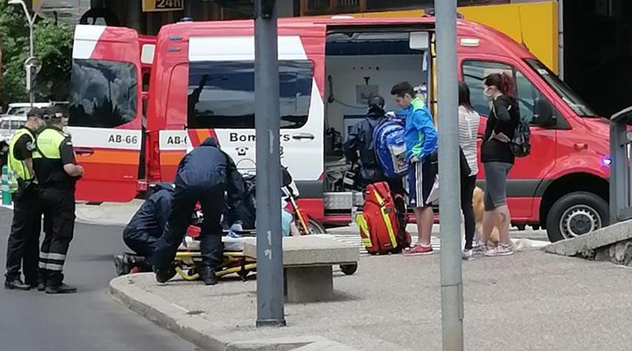 Bombers atenen un motorista ferit a Sant Julià de Lòria