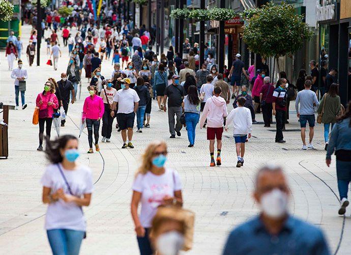 Avinguda Meritxell plena de gent