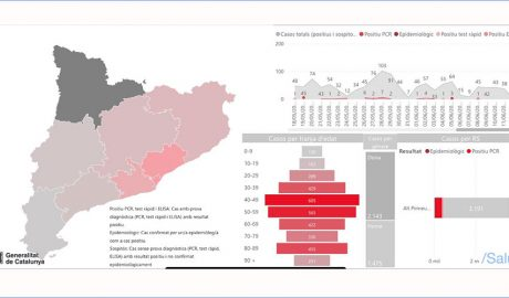 Gràfic d'evolució de la COVID-19 a l'Alt Pirineu i Aran