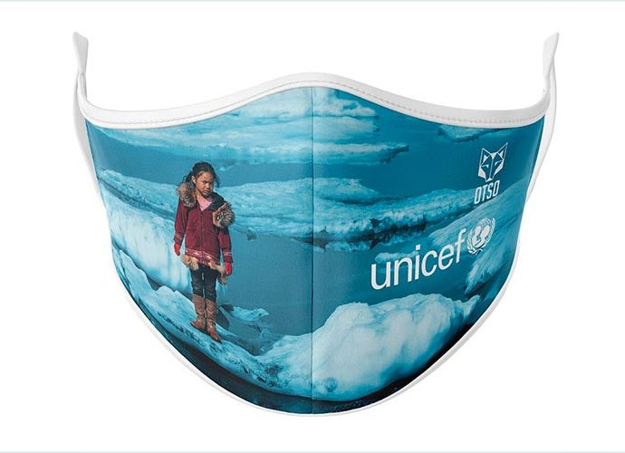 Mascareta en benefici d'Unicef