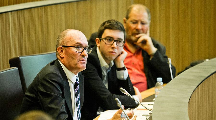 Els consellers Generals Joaquim Miró, Roger Padreny i Jordi Font