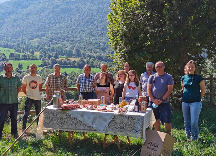 Membres de l'associació de productors agroalimentaris del Pirineu