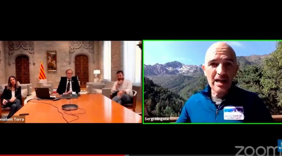 Videoconferència entre Quim Torra i sergi Mingote