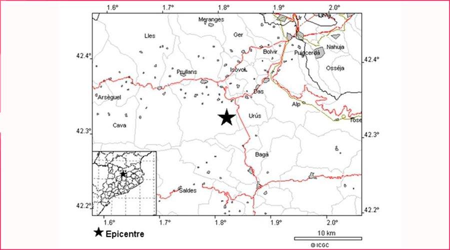 Localització del terratrèmo