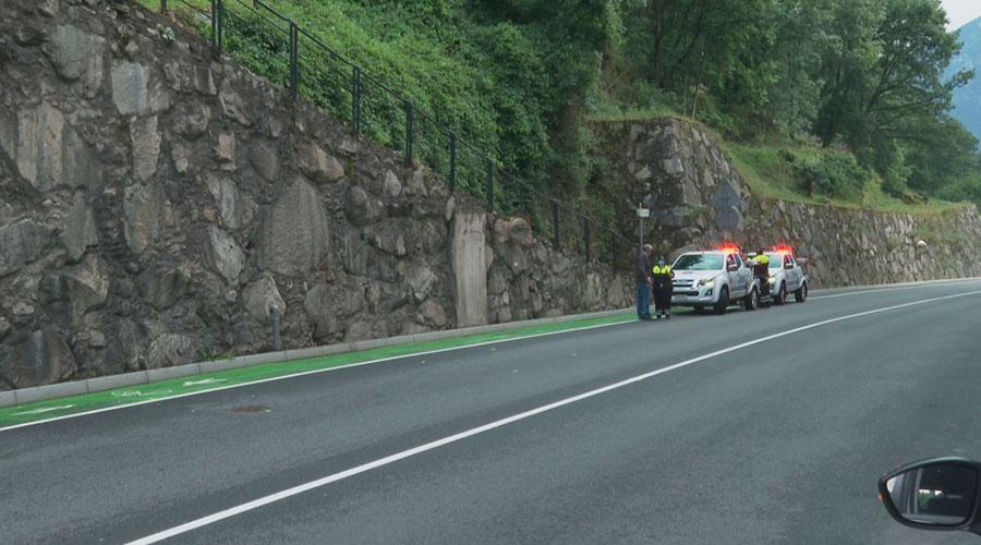 Lloc de l'accident a la carretera de l'Obach