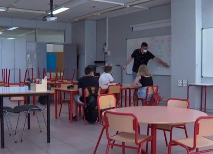 Una aula en el projecte de voluntariat docent